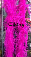 2plys Ostrich feather boas 20pcs ostrich feather fringe Hot Pink color dyed High quality Feather strips for wedding&party decor