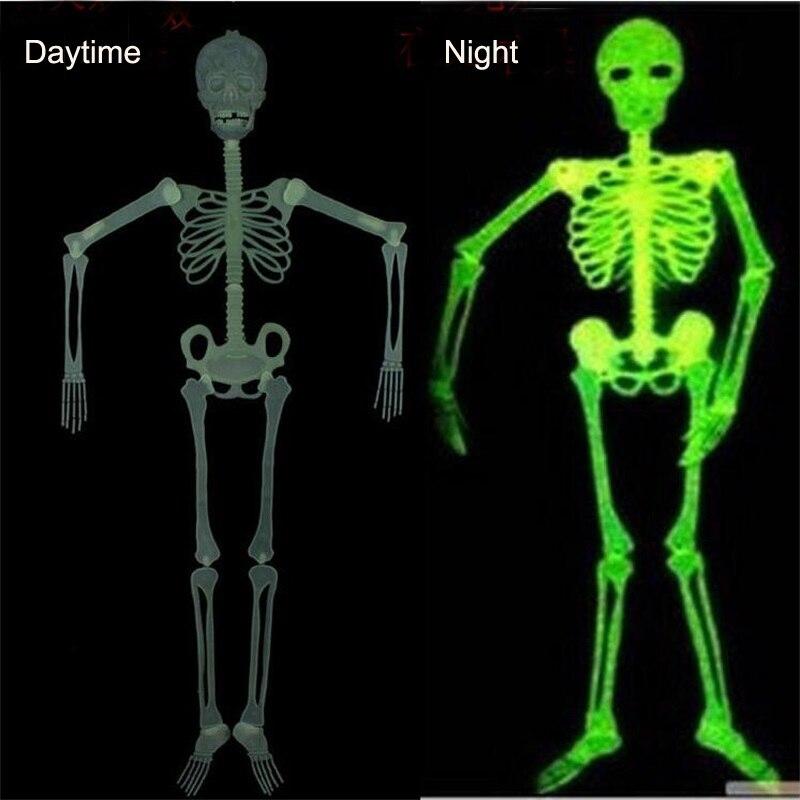 Movable Skull Skeleton Halloween Prop Horror Luminous Evil