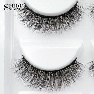 Image 5 - SHIDISHANGPIN 50 pairs natural long false eyelashes fluffy 3d mink lashes make up 100% cruelty free fake eyelash faux cils G805