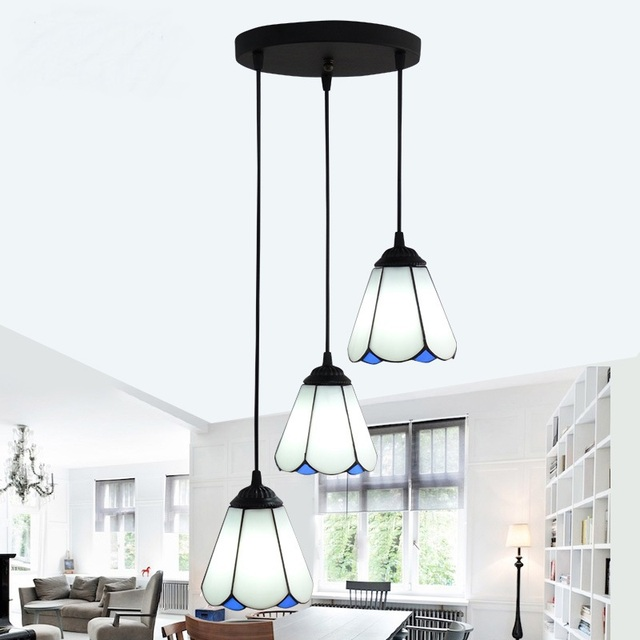Tiffany Mediterranean Room Pendant Lamps European Style