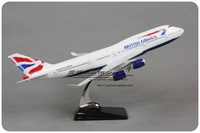47cm Resin Great British Aircraft Model B747 400 Airways Airbus Boeing Model 747 England Airplane Model Decorative Stand Crafts