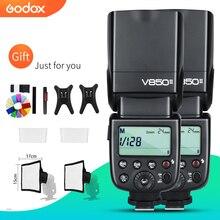 ฟรี DHL 2 PCS Godox V850II 2.4G GN60 ไร้สาย Li   Ion แบตเตอรี่กล้องแฟลช Speedlite สำหรับ Canon Nikon DSLR กล้อง + ชุดของขวัญ