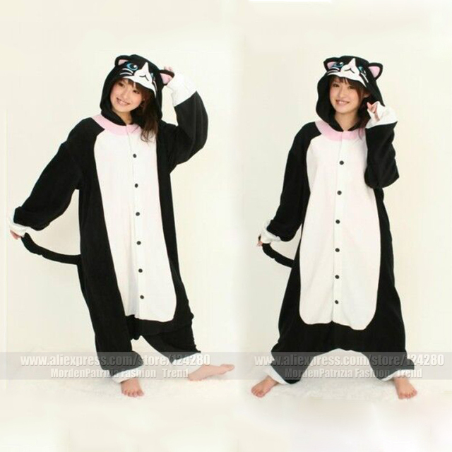 e780929dbee9 New Costumes Cartoon Animal Pajamas Black Cat Onesies Pyjamas ...