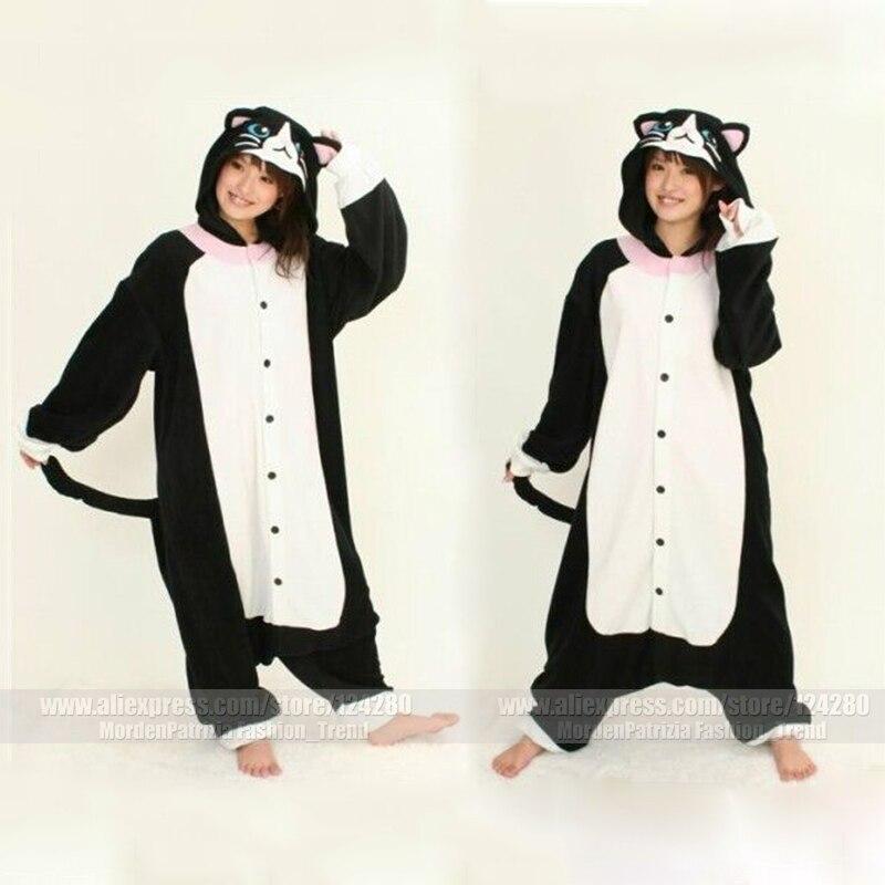 ᗐNuevos trajes pijamas animales de dibujos animados negro gato ...