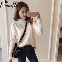 PEONFLY 2017 Autumn Winter Awesome Women Turtleneck Sweater Women Thick Warm Long Sleeve Pullover Female Tricot