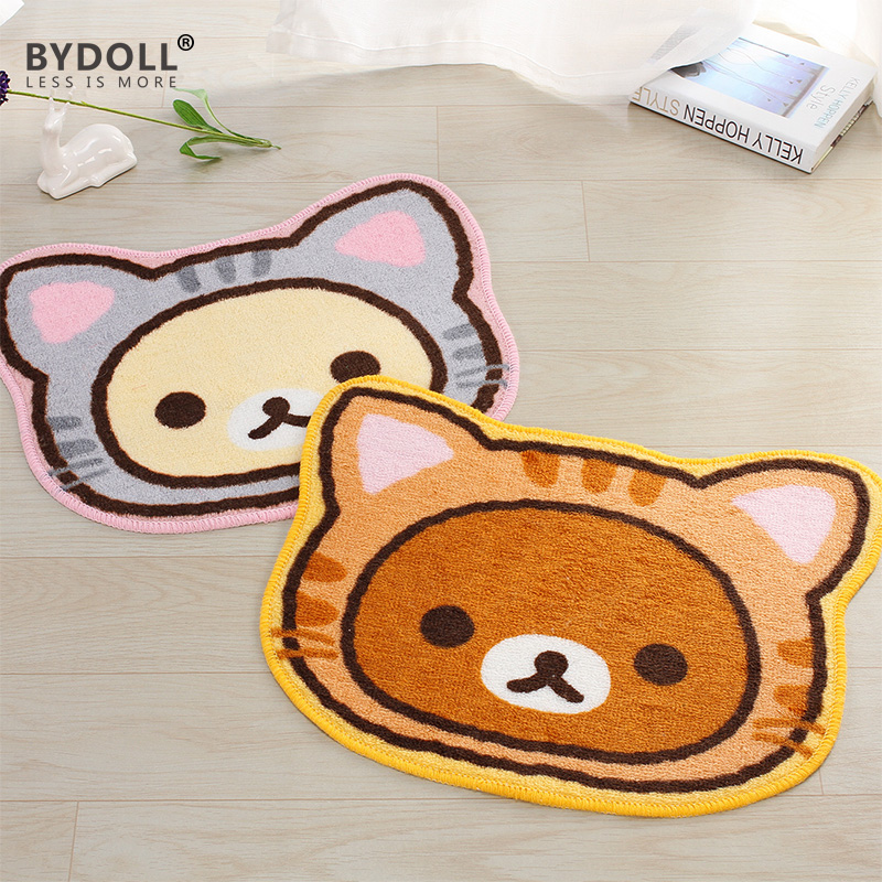bydoll welcome mat doormat cat tapete bathroom carpet kitchen living room animal print capacho 40x50cm y004 - Bathroom Carpet