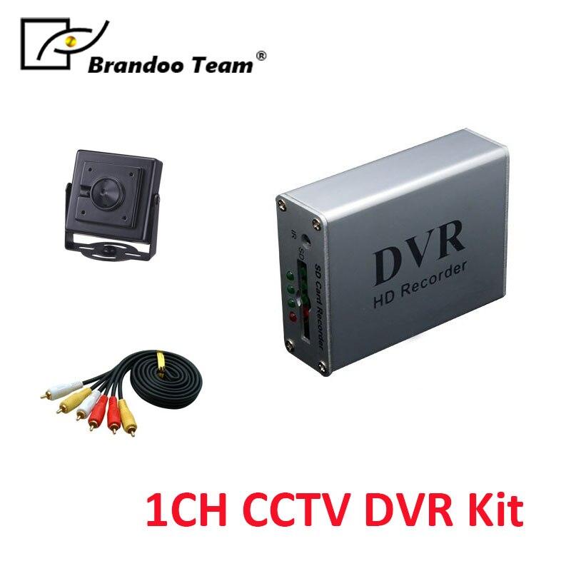 все цены на Mini 1CH CCTV DVR recorder works with 64GB memory,support power up, motion detection recording онлайн
