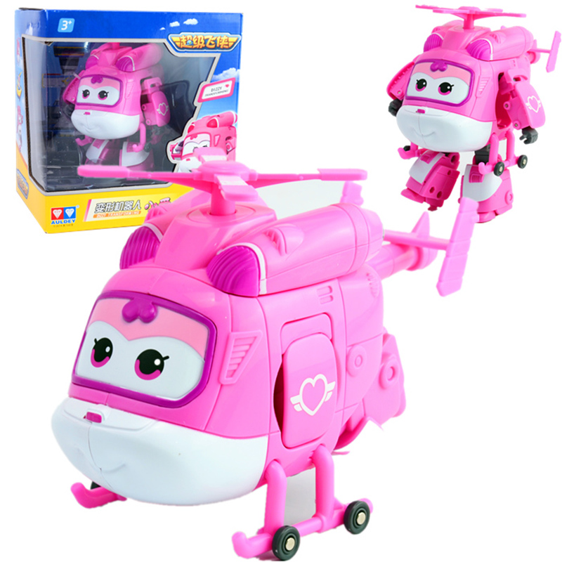 Image 5 - NEW Arrival Big 15cm ABS Super Wings Deformation Airplane Robot Transformation Action Figures Toys for Children Gift Brinquedosfigure toyaction figure toystoys for -