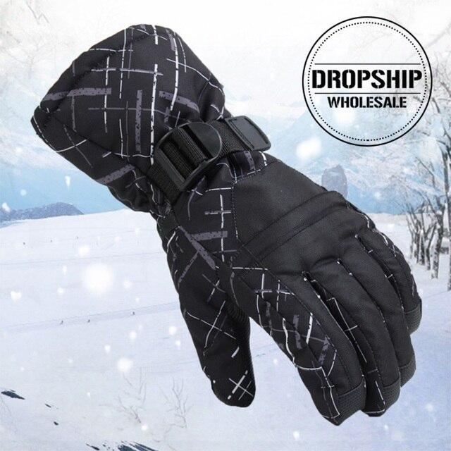 Super Warm Winter Ski Gloves for Men Women Waterproof Snowmobile Windproof Gloves Sport Snowboard Skiing Cycling Snow Glove