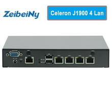 Mini PC Celeron J1900 Quad Core Network Security Control Desktop Firewall Router Mini Computer 4 GbE