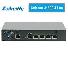 Мини-ПК Celeron J1900 4 ядра сетевой безопасности Управление Desktop маршрутизатор брандмауэра мини-компьютер 4 GbE LAN