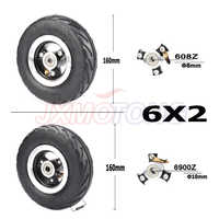 """6X2 Inflation Tire Wheel Use 6"""" Tire Alloy Hub 160mm Pneumatic Tyre Electric Scooter F0 Pneumatic Wheel Trolley Cart Air Wheel"""