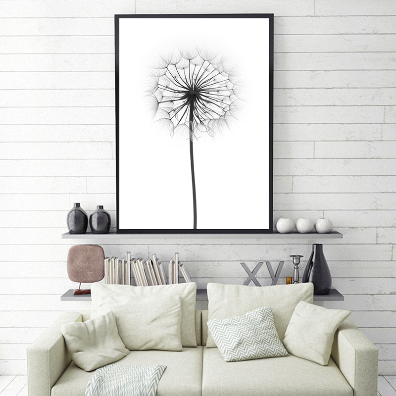 Us 2 93 18 Off Plant Potted Dandelion A2 A3 A4 Canvas Art Abstract Painting Print Poster Picture Wall School Office Bedroom Home Decor In Painting