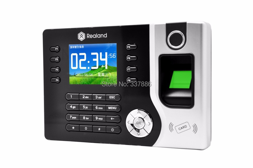 Fingerprint/RFID Card (125Khz,EM4100)/Password time attendance reader terminal with TCP/IP &USB tcp ip fingerprint time attendance color screen 2000 user time attendance fingerprint password rfid card time atteendance