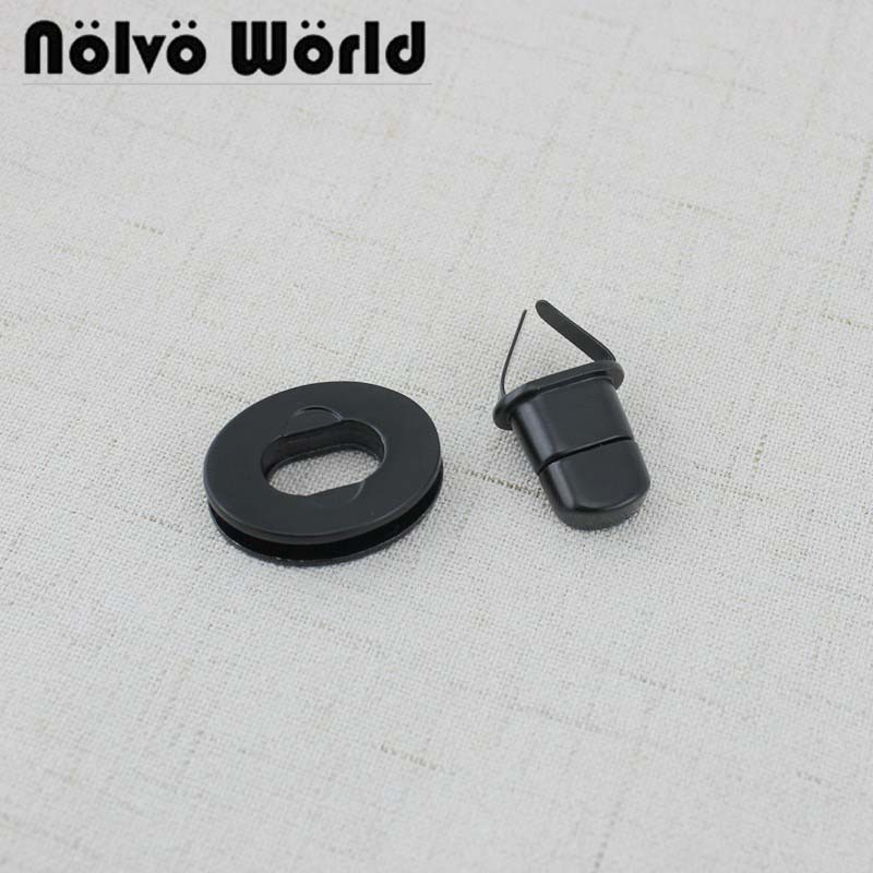 10-30pcs Dark Black Finish 20*23mm Small Twist Turn Lock For Bags Purse Sewing