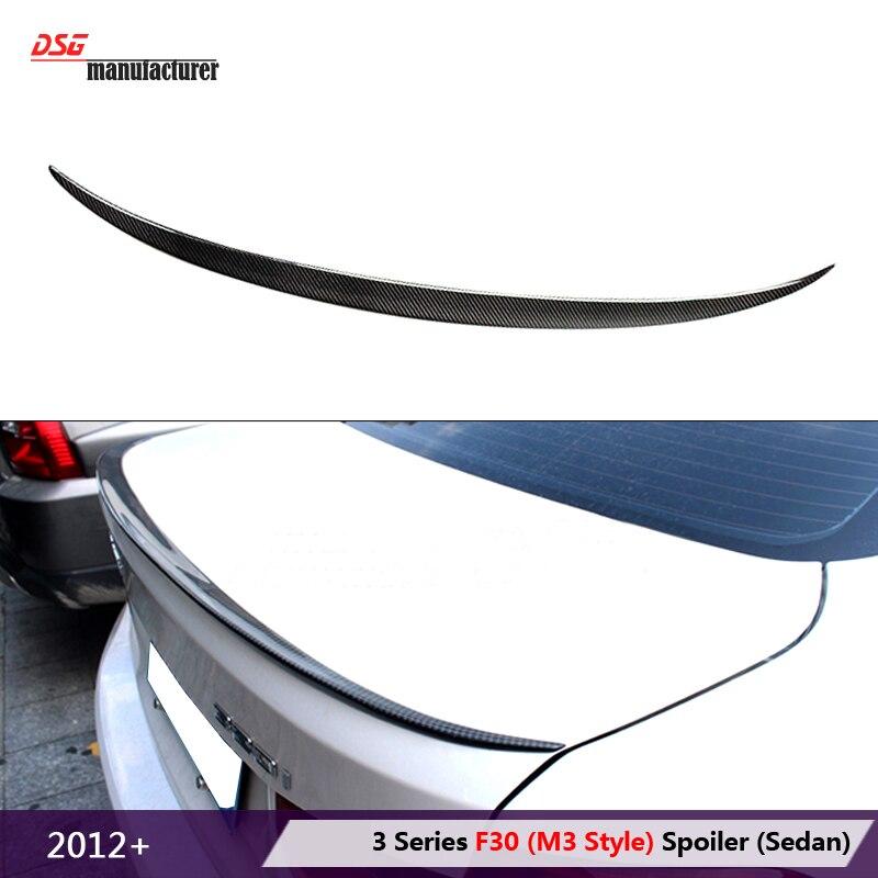 2012 2013 2014 2015 2016 318i 320i 328i 335i carbon fiber aerodynamic trunk spoiler wing for bmw 3 series F30 F80 M3 car tuning replacement style for bmw 3 series 2013 2014 2015 2016 up 320i 328i 330i 335i 320 f30 carbon fiber side mirror cover
