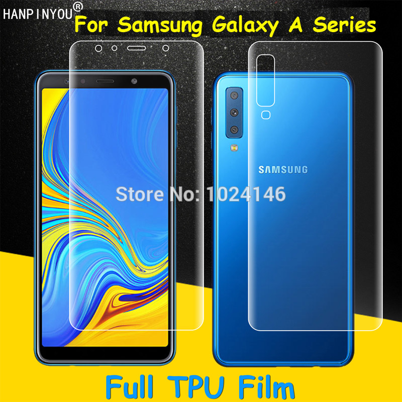 Front/Back Full Coverage Clear Soft TPU Film Screen Protector For Samsung Galaxy A7 A6 A8 Plus A9 2018 Star (Not Tempered Glass)Front/Back Full Coverage Clear Soft TPU Film Screen Protector For Samsung Galaxy A7 A6 A8 Plus A9 2018 Star (Not Tempered Glass)