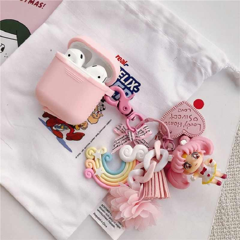 Funny Case For Apple Airpods Earphones Protective Case for air pods Cover pony keychain Bluetooth Wireless Earphone Accessories