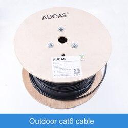 AUCAS عالية السرعة جيجابت Cat6 شبكة في الهواء الطلق كابل 305 متر إيثرنت كابل cat6