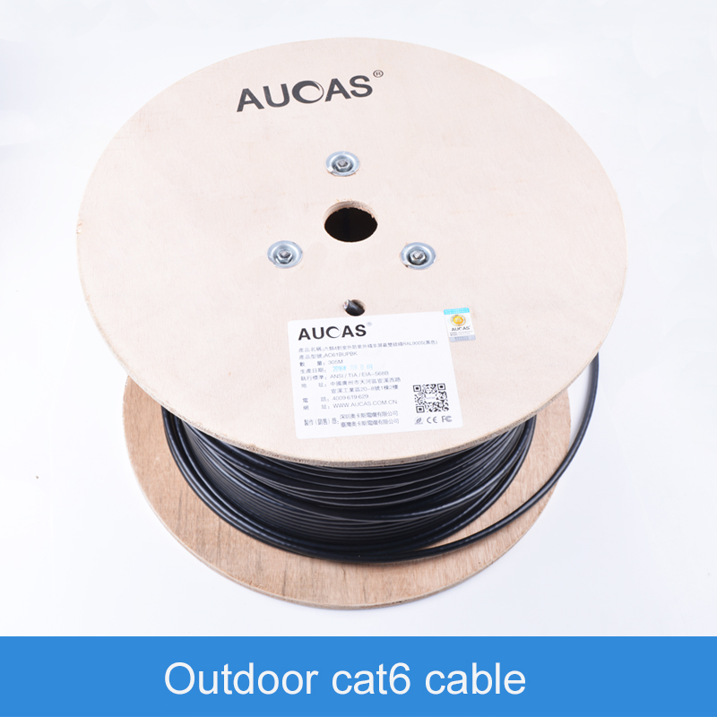 AUCAS High Speed Gigabit Cat6 Network outdoor Cable 305m ethernet cable cat6 high speed usb3 0 to gigabit ethernet rj45 1000m network card converter adapter connector cable