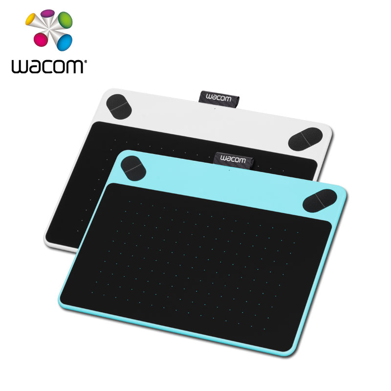 wacom intuos draw ctl 490 digital graphics drawing tablet 2048 pressure levels white blue. Black Bedroom Furniture Sets. Home Design Ideas
