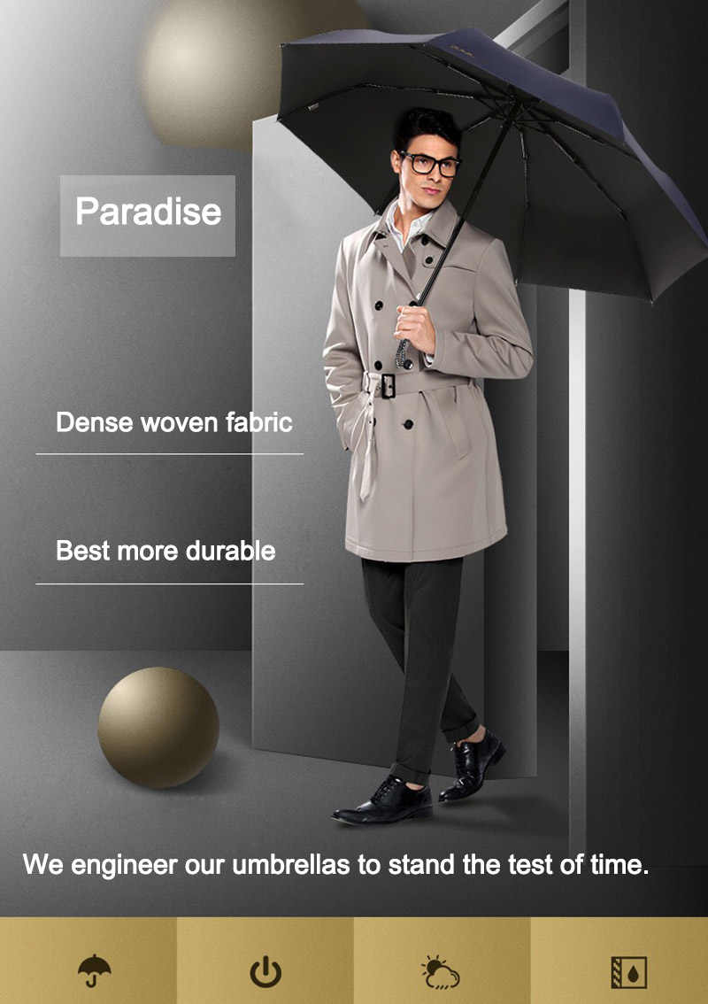 Ветрозащитный автоматический зонт для мужчин складной большой сильный Модный женский зонтик качество легкий дождь Солнце УФ детские зонтики для женщин
