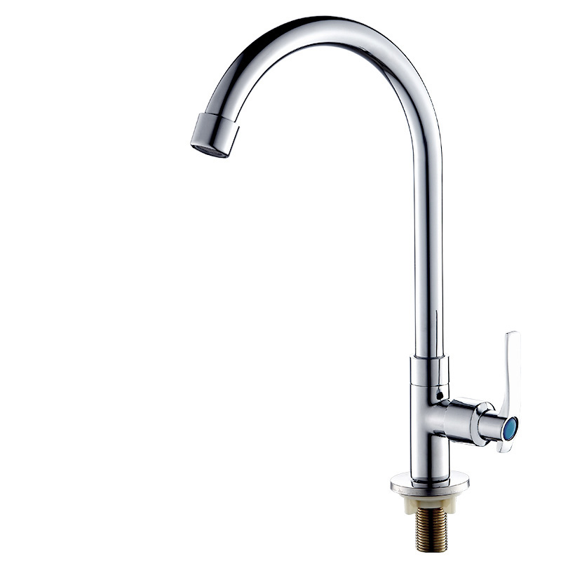 JOOE Modern Chrome Polished Solid Brass Kitchen Faucet Single Cold Deck Mounted Rotatable Water Tap torneira de cozinha jooe modern solid brass with chrome kitchen faucet mixer cold and hot water tap for sink torneira cozinha griferia cocina je029
