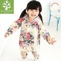Дождевик с большим цветком для мальчиков и девочек  дождевик с рисунком  водонепроницаемая походная непромокаемая одежда  водонепроницаем...