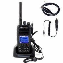 Retevis Walkie Talkie DMR Digital/Analog RT3 VHF 136-174MHz 5W 1000 CH Digital VOX Alarm Portable Ham Walkie Radio Set A9110AV