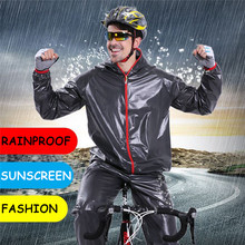 Unisex Cycling Jackets Waterproof Raincoat Bicycle Jackets Clothing Road MTB Mountain TPU Bike Rain Coats Cycling Poncho Set santic 2017 green light mtb cycling jackets raincoat windproof men waterproof outdoor mtb cycling jersey bike racing jackets