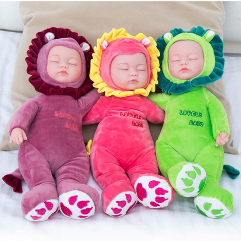 35CM High Dolls Baby Doll Reborn Doll Toy For Kids Appease Accompany Sleep Cute Vinyl Doll