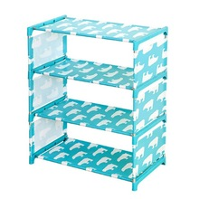Shoe Shelves Nonwoven Fabric Shoe Rack Storage Cabinet Rail 3/4 Layers Organizer Standing Holder Container DIY Home Furniture недорого