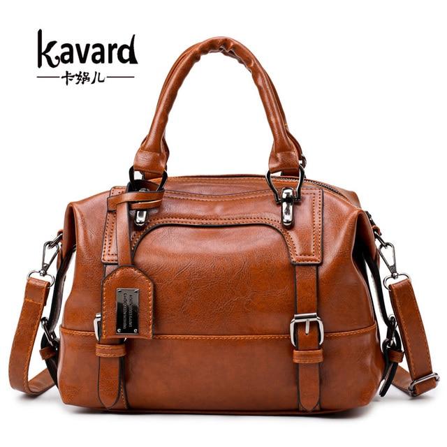 3b62b5425d wax oil leather bag ladies hand bags women leather handbag designer handbag  high quality woman bag women famous brand sac a main