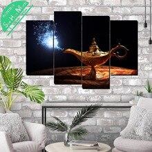 Лампа Аладдина 4 шт. Холст Декоративные Картины Плакат Стены Современные Настенные Панно для  Лучший!