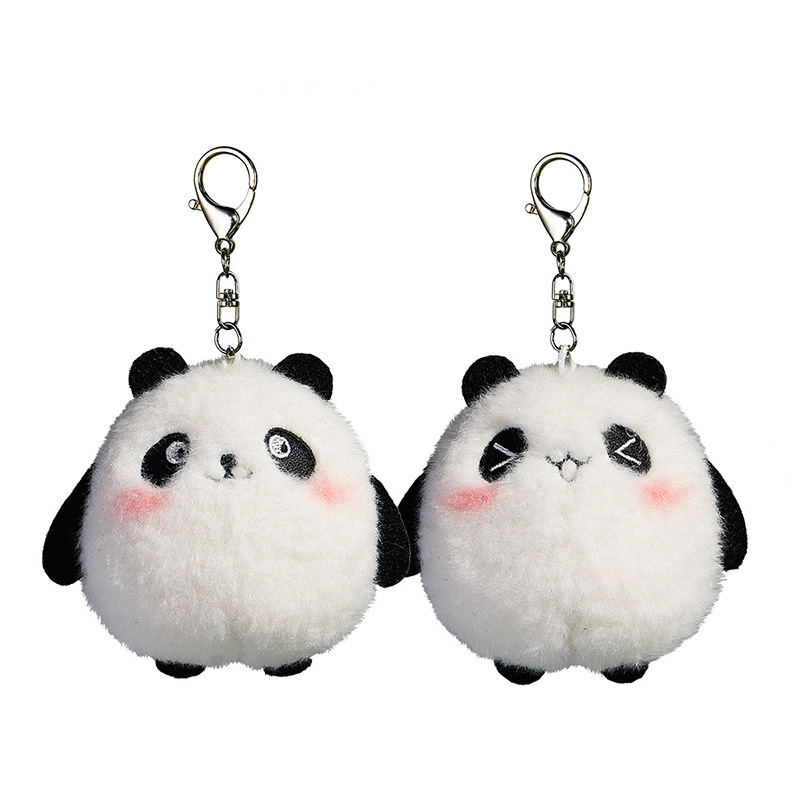 10cm Cute Panda Plush Toys Kawaii Bag Backpack Pendant Keychain Stuffed Animals Kids Toys for Children Birthday Gift Doll cute bulbasaur plush toys baby kawaii genius soft stuffed animals doll for kids hot anime character toys children birthday gift