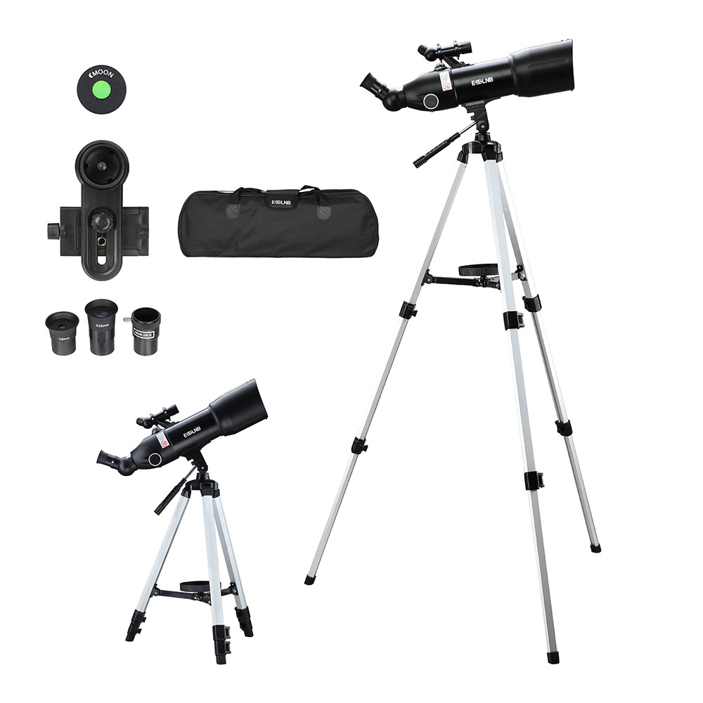 40080 Telescope with High Tripod Portable Storage Bag Phone Holder 16 133X Moon Watching Monocular Beginner