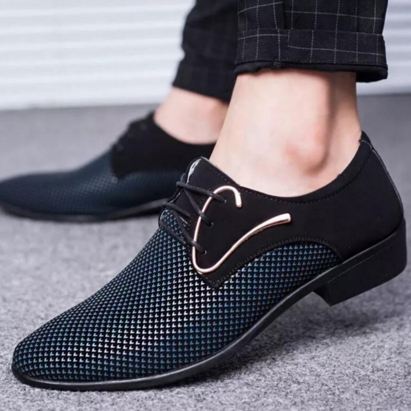New Men Shoes Spring Business Shoes