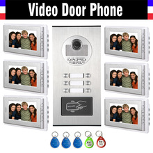 6 Units Apartment Intercom System font b Video b font Intercom font b Video b font