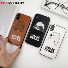 CBL Luxury Pu Leather Cartoon Bear Phone Case for IPhone 6 Xs XSMAX XR 6s7 8 plus Soft Tpu Cover With Card Pocket Bags Fundas
