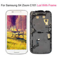 For Samsung Galaxy S4 SIV ZOOM C101 LCD Touch Screen Display With frame Digitizer Assembly 100% Tested