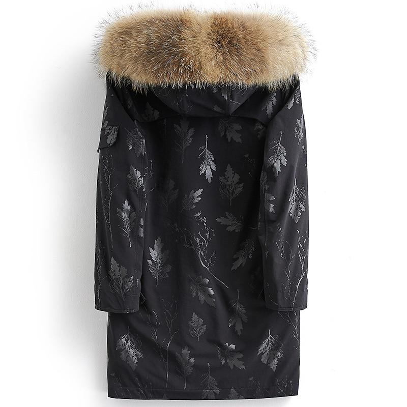 Kj1459 Hombre Giacca Pelliccia Di Homme Collo Parka Inverno Ayunsue Hiver  Black Lupo Reale Shuyewen Veste Uomini Fodera Lungo Cappotto Degli ... 5b5a65bf203