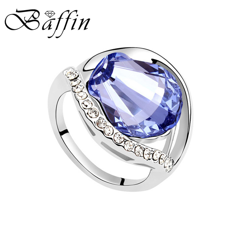 2017 Heißer Verkauf Finger Ring Gemacht Mit Swarovski Elements Kristall Oval Ringe Für Frauen Hochzeit Engagement Zubehör Ausgezeichnete (In) QualitäT