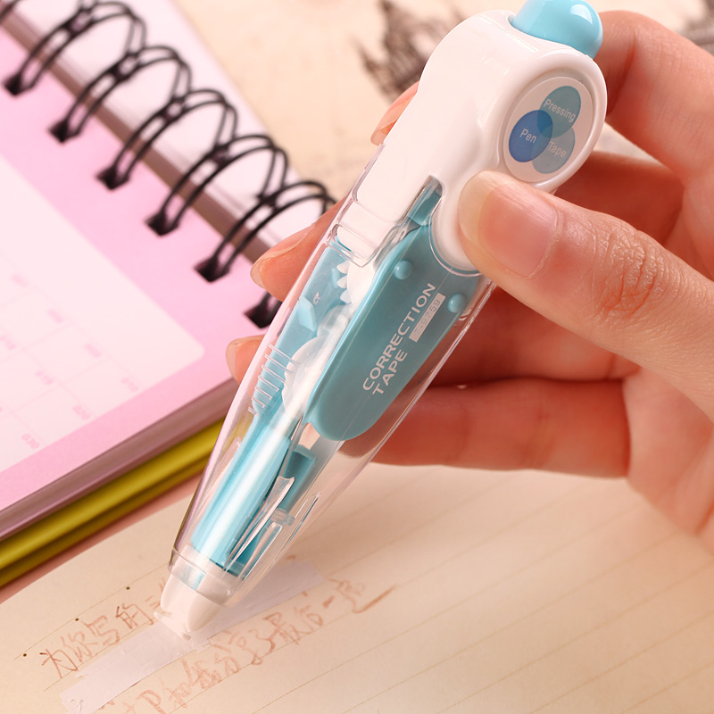 Kawaii Cute Correct Correction Tape Pens Blue Green Korea Kids School Office Supplies Korean Stationery Novelty For Student In From