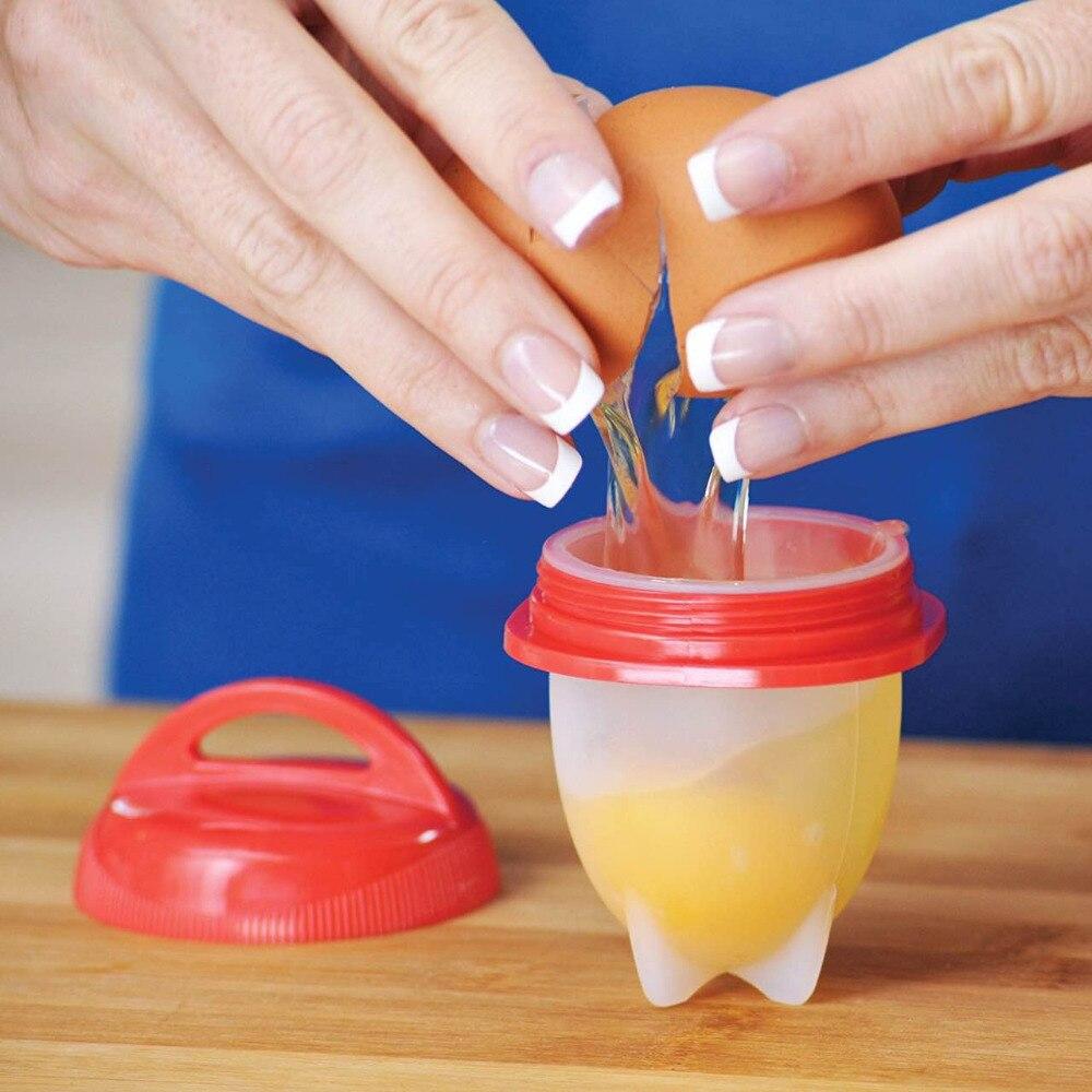 6 teile/satz Silikon Egglettes Maker Ei Herd Hart Gekochtes Eier Ohne die Shell Für Ei Werkzeuge Einfach Koch Eier Pochiert kessel