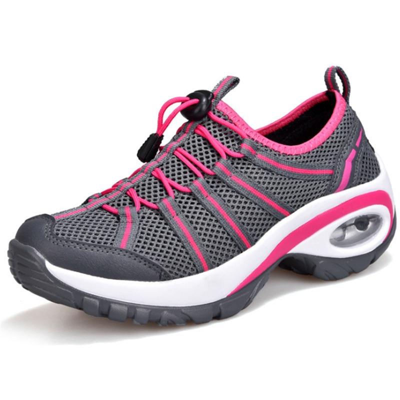4b5b9e4c Zapatillas de deporte de verano 2018 para mujer con cuña y zapatos  deportivos para mujer