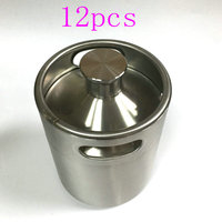 12PCS Stainless Steel Beer Growler 2L 64oz beer keg,Mini beer Keg,beer bottle,barrels