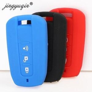 Image 2 - jingyuqin Silicone Car Key Cover FOB for Ssangyong Tivolan Actyon Kyron Korando Rodius Remote Key Case Car styling 3/4 Button
