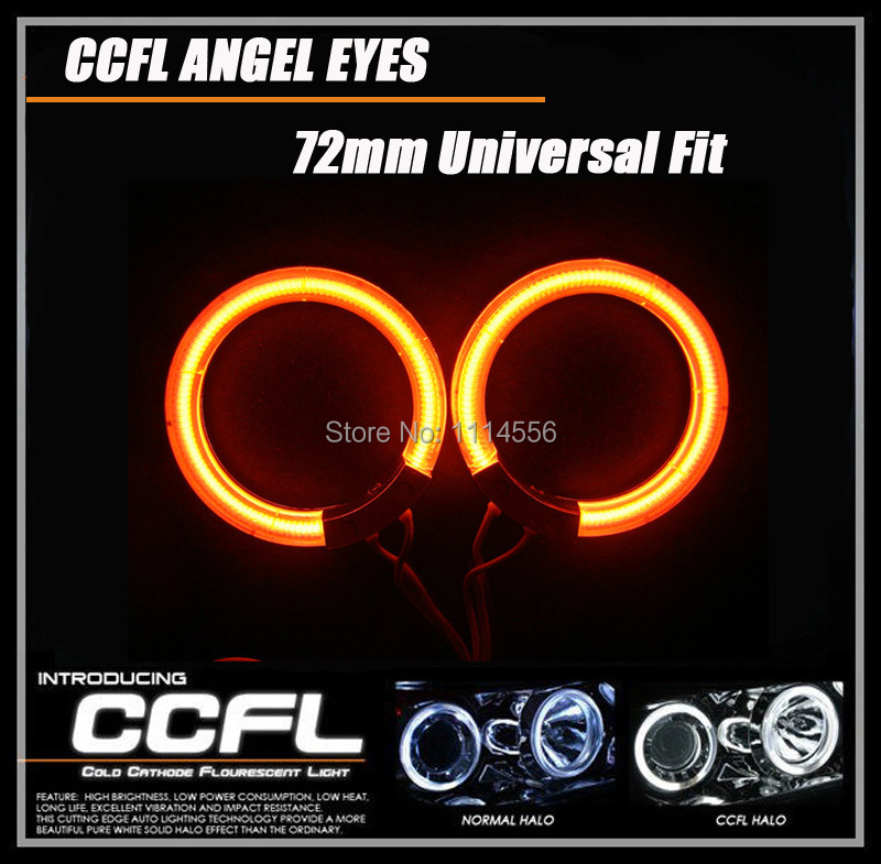 Universal CCFL angel eyes 60mm 65mm 72MM car headlights 8000k super bright halo ring bulb for cars head lamp with 7 colors for 01 05 lexus is300 ccfl halo projector headlights 02 03 04 usa domestic free shipping