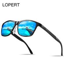 LOPERT Men Vintage Aluminum Square Polarized Sunglasses Classic Brand Sun glasses Coating Lens Driving Shades For Men/Wome