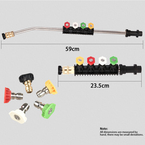 Image 2 - High Quality Metal Jet Water Spray Lance Wand Nozzle for Karcher K Series Car Pressure Washer with 5 tips K2 K3 K4 K5 K6